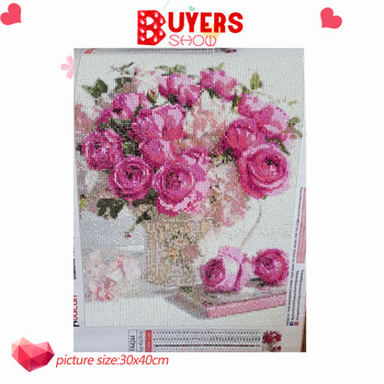 HUACAN Diamond Mosaic Flower Diamond Painting 5d Sets Painting With Diamonds Embroidery Full Square Picture