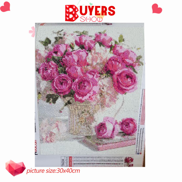 HUACAN Diamond Mosaic Flower Diamond Painting 5d Sets Painting With Diamonds Embroidery Full Square Picture Of