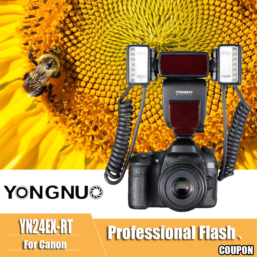 Image 5 - YONGNUO YN24EX YN24 EX Macro Ring Flash E TTL Flash Speedlite with 2pcs Flash Heads 4pcs Adapter Rings for Canon EOS Cameras-in Flashes from Consumer Electronics