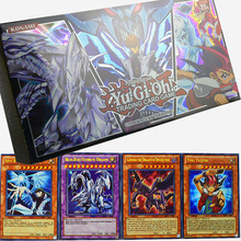 yugioh 100 pcs Holographic card set with box yu gi oh anime Game Collection Cards kids boys toys for children figure cartas