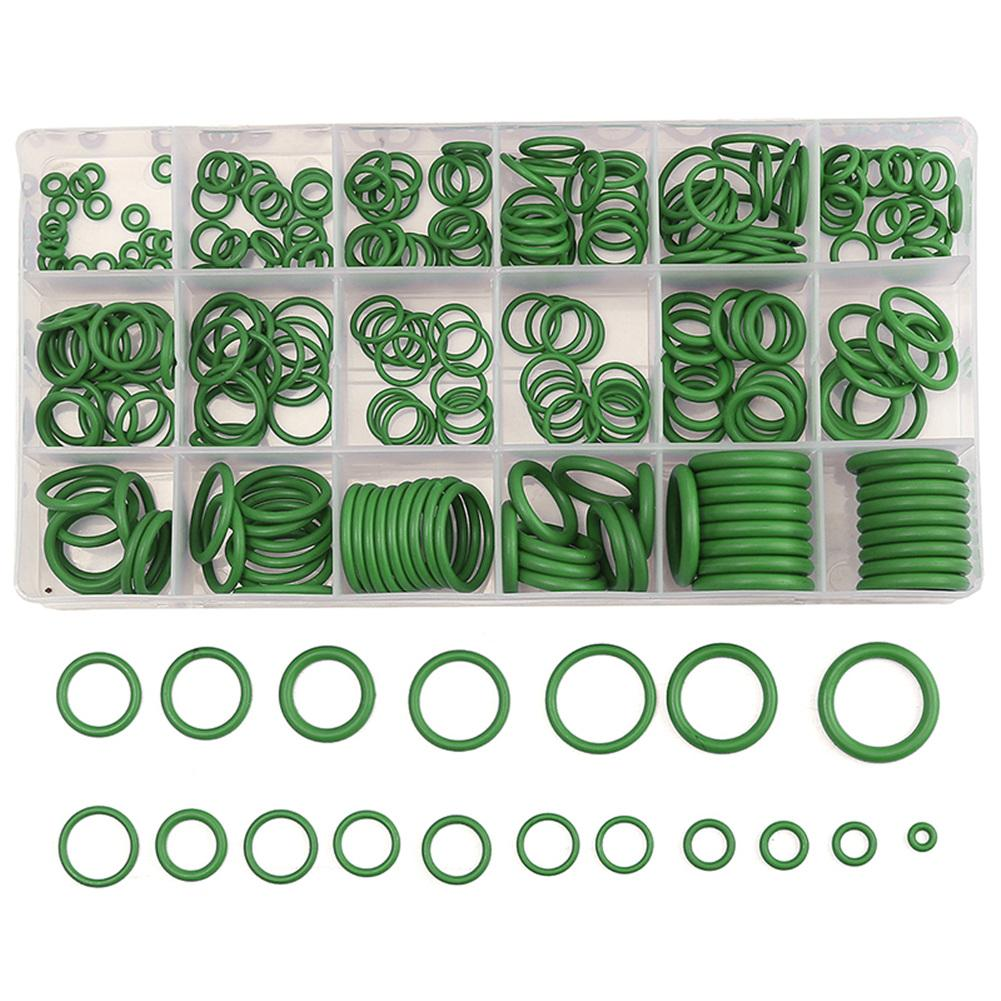 270PC Green Rubber O-Ring Assortment Set Car Air Conditioning Washer Kit