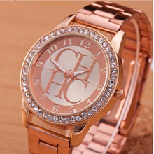 Reloj mujer Hot Sale Luxury Brand CH Casual Women Quartz Watch Fashion Stainless Crystal Digital Bear Ladies Платье Часы Zegarek