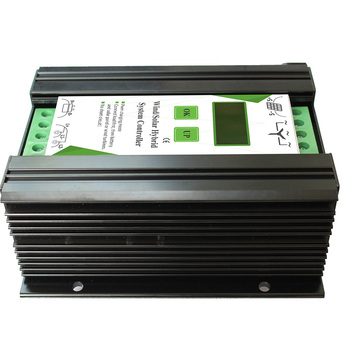 12V 24V 600W LCD Screen Equipment Accessories Wind Solar Home Hybrid Controller Electrical Automatic Charge Aluminum Alloy Power 4