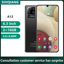 Soyes A12 Neue 16GB Rom Smartphone 6,3 zoll Full Screen Android 5600mAh Ouad Core Mobliephone Gesicht Entsperren Hinten 8MP Handy