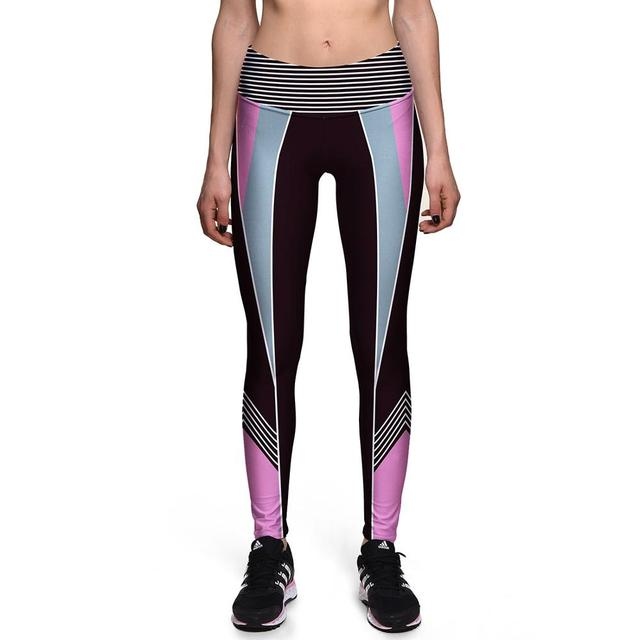 Ladies Workout High Waist Colorful Leggings 5