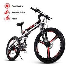 Электрический велосипед 26 дюймов алюминиевый складной электрический велосипед 500 Вт Мощный мотор 48V12. 5A аккумулятор 21 скорость горный электровелосипед пляжный велосипед