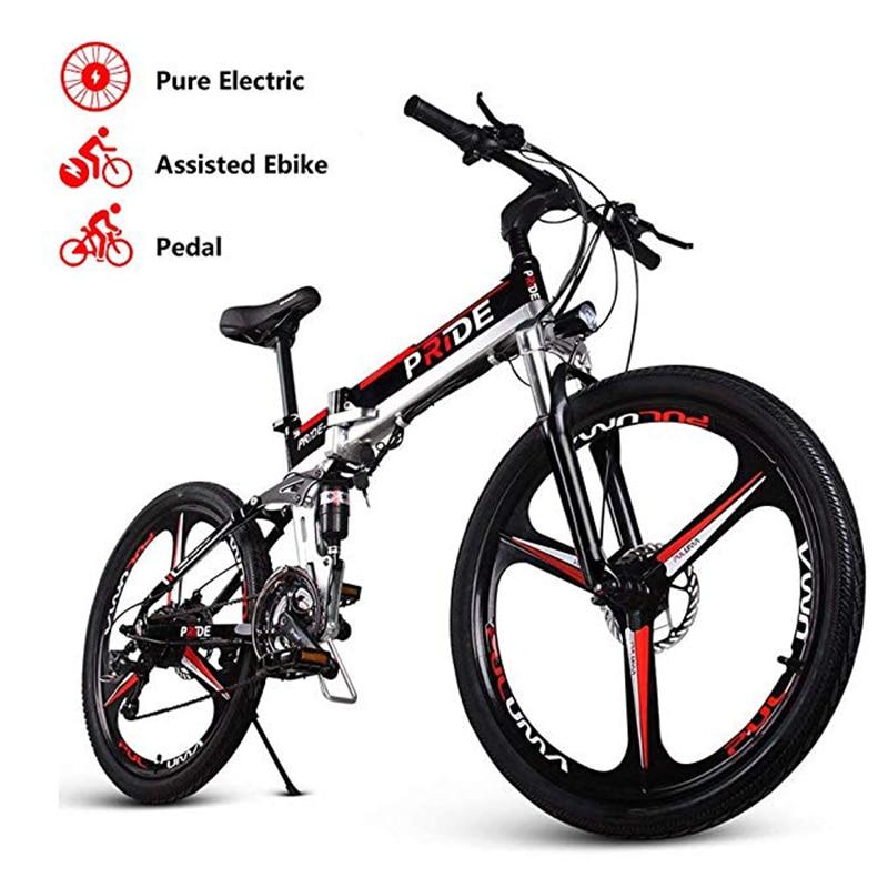 Vélo électrique 26 pouces en aluminium pliant vélo électrique 500W puissant Mottor 48V12. 5A batterie 21 vitesses montagne ebike vélo de plage