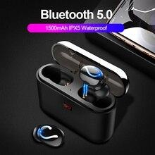 Tws bluetooth 5.0 blutoothのイヤホンワイヤレスヘッドフォン電話真のワイヤレスステレオヘッドホンスポーツハンHBQ Q32
