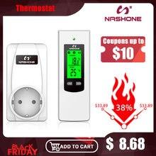 Termostato digitale controllo temperatura digitale termostato Wireless 220V Display LCD presa termoregolatore con termostato