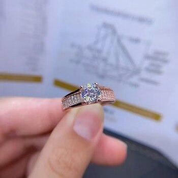 MeiBaPJ 1 캐럿 D 컬러 Moissanite 다이아몬드 패션 트렌드 반지 여성을위한 925 스털링 실버 고급 웨딩 쥬얼리