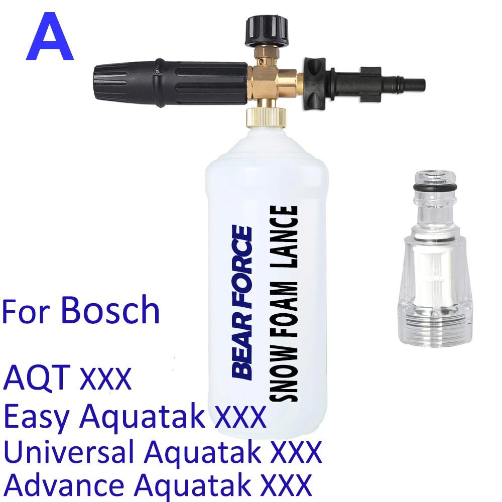 Foam Nozzle Snow Foam Lance Soap Gun Foam Generator Car Clean Foam Wash for Bosch AQT Aquatak High Pressure Washer Car Washer