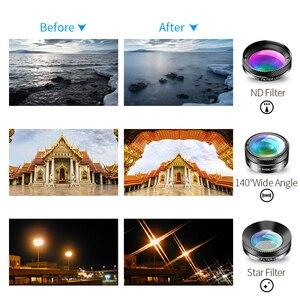 Image 5 - Универсальный Набор объективов APEXEL для камеры телефона 6 в 1, объектив «рыбий глаз», широкоугольный макрообъектив, фильтр CPL/StarND32 для почти всех смартфонов
