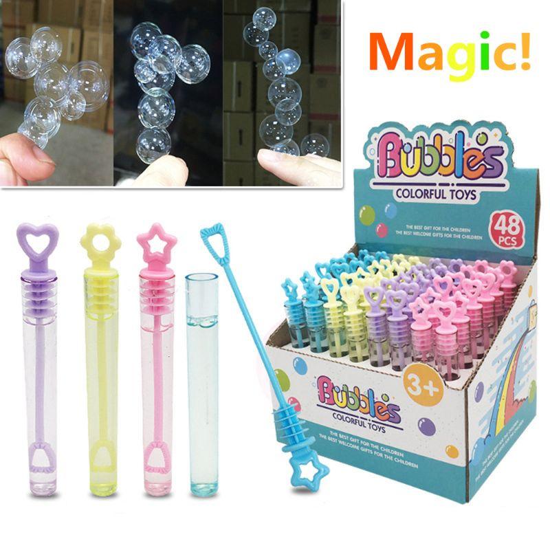 2021 6PCS Super Magic Bubble Soap Bottles Won't Burst Bubbles Blower Magic Toy Wedding Birthday Party Favors Bubbles Maker Kids