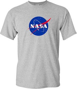 Koszulka dla dorosłych Logo NASA-koszulka narodowa aeronautyka i administracja przestrzeni kosmicznej tanie i dobre opinie Podróż TR (pochodzenie) Cztery pory roku Z okrągłym kołnierzykiem SHORT normal COTTON Na co dzień Znak