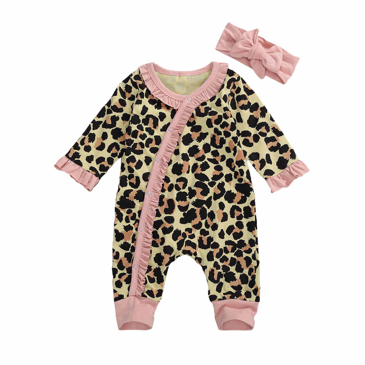 Flower Printed Spring Autumn Baby Girls Dress Long Sleeves Overalls With Cap