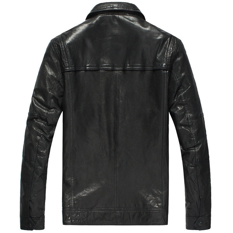 Genuine Leather Jacket Men 100% Sheepskin Coat Motorcycle Jacket Man Short Vintage Real Leather Jackets DK105 YY289
