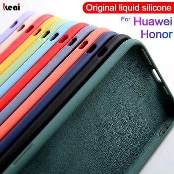 Original Liquid Silicone Phone Case For Huawei P30 P20 P40 Mate 30 20 Honor 20 Lite Pro P Smart 2019 Luxury Soft Protector Cover 1
