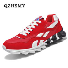 Light Men Shoes Breathable Men Sneakers Lace-up Comfortable Shoes For Man 2021 Summer Fahion Red Men's Casual Shoes Plus Size 47