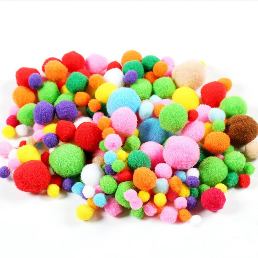Free Shipping-Multicolour DIY Decoration Ball 8/10/12/15/20/25/30mm Fur Ball Pompon Home Decor Decorative Flowers Crafts K01445