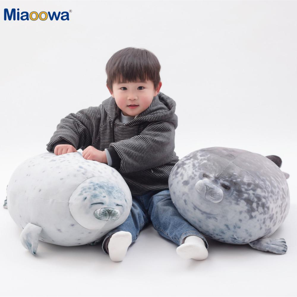 20-80cm Cute Sea Lion Plush Toys 3D Novelty Throw Pillows Soft Seal Plush Stuffed Plush Housewarming Party Hold Pillow BabyGift
