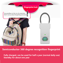 Fingerprint Padlock Smart Lock USB Charging Life Waterproof Security Safety Luggage Backpack Portable