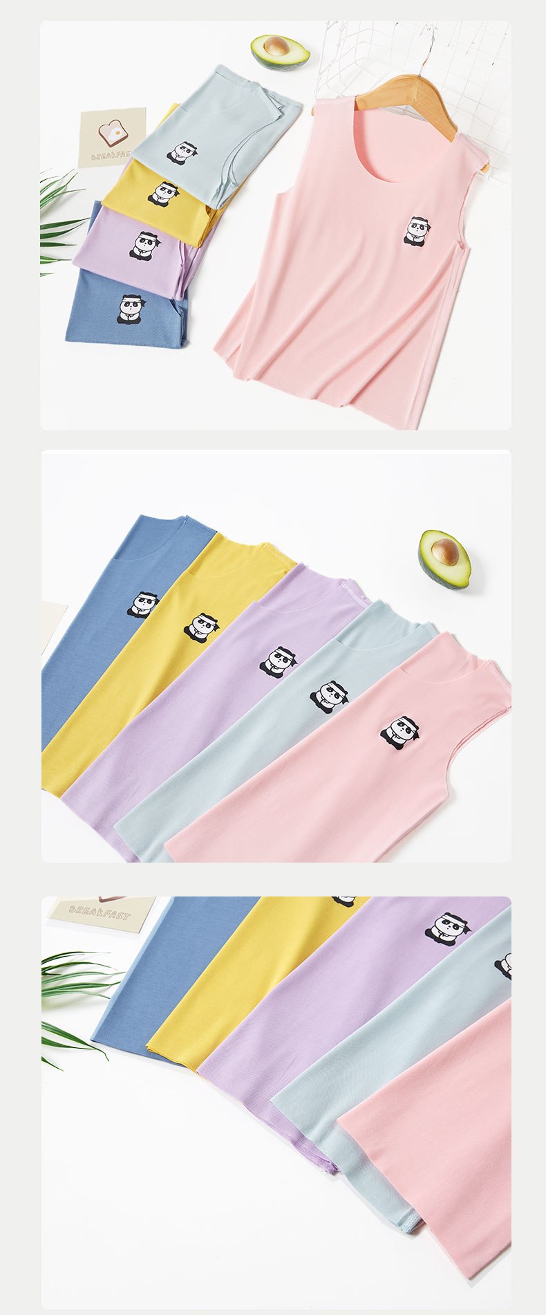 Hd8cff3011c8144709438dfe798c9ba61s NANJIREN child s Summer Sleeveless Tank s For Child Modal Casual T Shirt Cool Breathable Solid Color Elasticity Base Shirt
