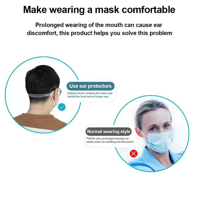 10 PCS Extension Hook Adjustable Buckle Extension Buckle For Mask, 4 Gear Adjustable Extension Strap For Relax Your Ears 1