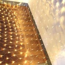 LED light post 1.5x1.5m Stringlight Net Mesh Fairy Lights for Festival Wedding Christmas Party Decoration WWO66