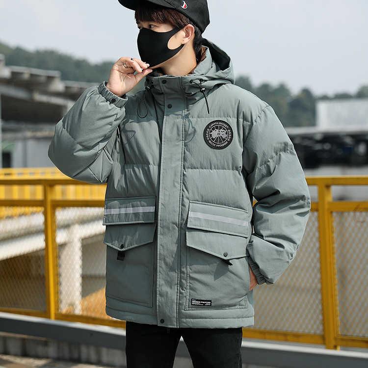 Chaqueta de plumón para hombre de nueva marca de 2019, abrigo de plumón de pato blanco cálido informal coreano, ropa masculina, Parka de plumón de moda 2019 LW2267