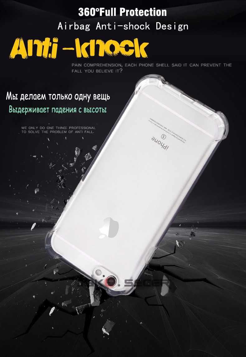 لينة TPU حقيبة لهاتف أي فون 11 برو ماكس 2019 5 SE 5 S 6 7 8 6 6S زائد X XR XS الهاتف قذيفة شفافة سيليكون عودة يغطي كوكه كابا