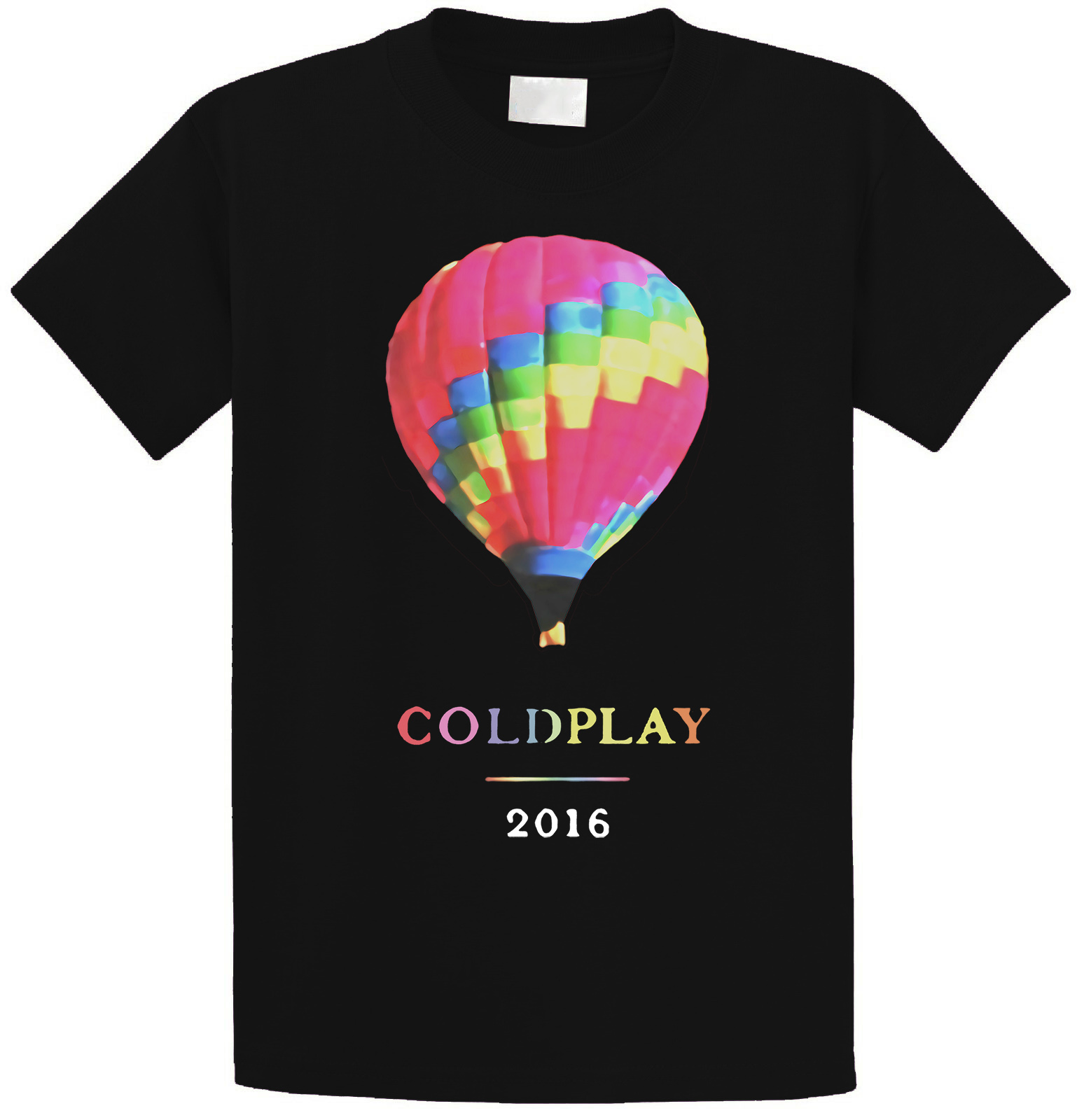 Casual T Shirts  Graphic Men Coldplay Tour 2016 O-Neck Short-Sleeve Tees