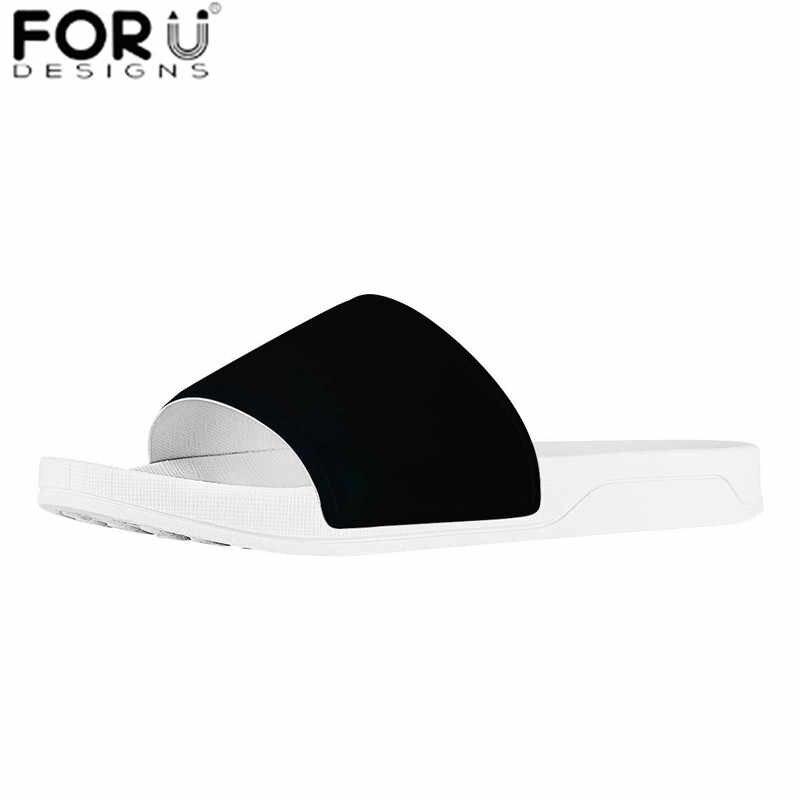 Forudesigns marca designer personalizar seus logotipos/nome/impressão iamge verão feminino/masculino/crianças interior antiderrapante chinelo zapatos mujer