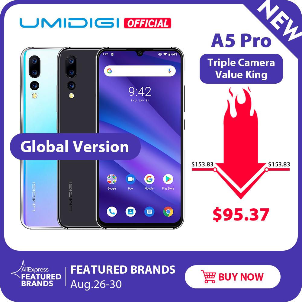 UMIDIGI 32gb 4GB Octa Core Face Recognition 16MP New Smartphone Waterdrop Triple-Camera