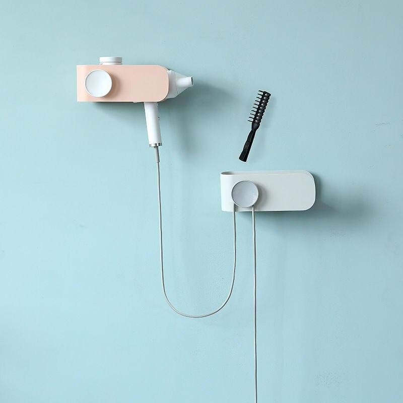 Hair dryer rack free punch wall-mounted multifunctional bathroom shelf bathroom accessories  bathroom accessories