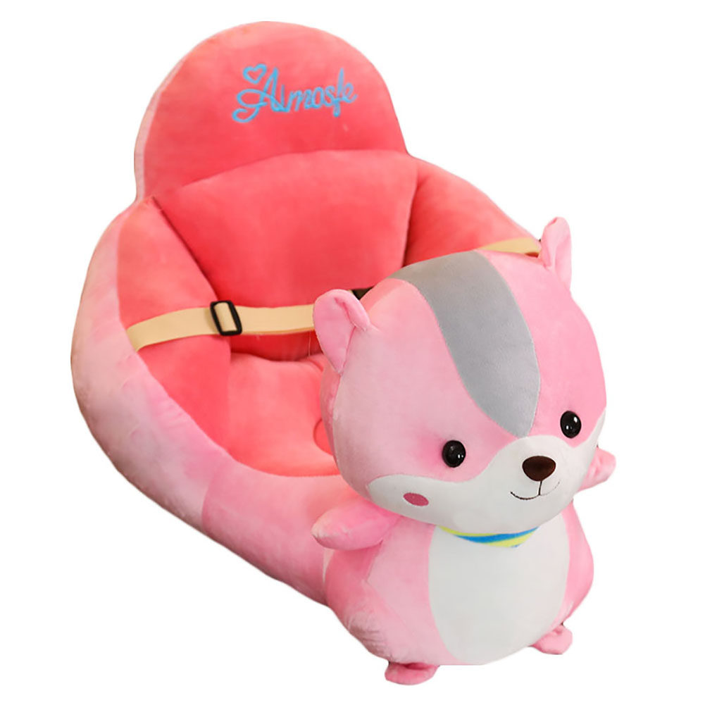 Johnear Kids Sofa Support Seat Bean Bag Armchair Cute Cartoon Animal Children's Sofa Backrest Chair For Playroom Bedroom