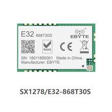 E32-868T30S sx1276 lora transmissor de longa distância e receptor sx1278 868 mhz 1 w smd sem fio transceptor 868 mhz smd selo buraco