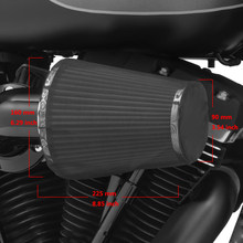 Motorcycle Air Filter Heavy Breather Rain Sock Black Protective Cover For Harley Air Cleaner Kits XL 1200 Touring Softail Dyna(China)