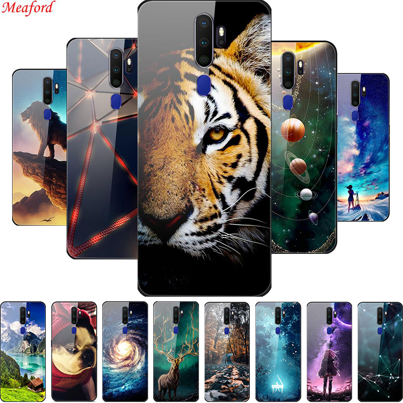 Cool <font><b>Case</b></font> For <font><b>OPPO</b></font> <font><b>A5</b></font> A9 <font><b>2020</b></font> <font><b>Case</b></font> Luxury Glass Back Cover Phone <font><b>Cases</b></font> For <font><b>OPPO</b></font> A9 <font><b>A5</b></font> <font><b>2020</b></font> <font><b>Case</b></font> Soft Bumper For <font><b>OPPO</b></font> A11X Coque image