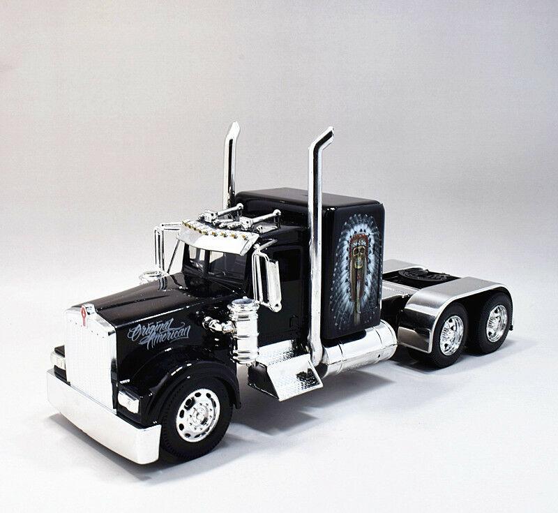 Newray 1:32 Kenworth W900 Semi Diecast Truck Model Red