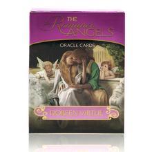 Полный английский 44 Romance Angels Oracle Card колода таинственные карты Таро настольная игра от Doreen добродетель Редкий из печати