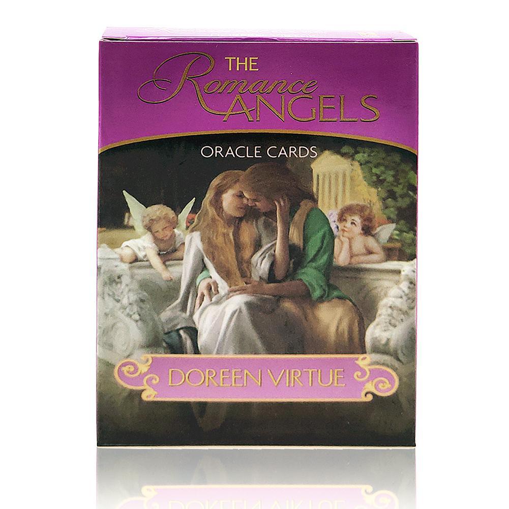 Inglês completo novo os 44 anjos romance oracle cartas baralho misterioso tarô cartas jogo de tabuleiro por doreen virtude raro fora de impressão