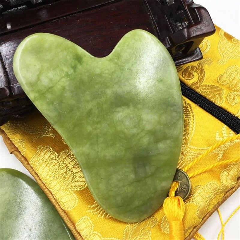 Натурального нефрита гуаша массажер камень гуаша доска Красота инструмент медицинского обслуживания гуаша скребок лифтинг лица массажный Меридиан соскабливания|Устройство для ухода за кожей лица| | АлиЭкспресс