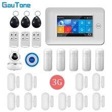 Gautone app controle remoto 3g wifi gprs sem fio casa/prédio de escritórios sistema de alarme segurança com 1080p hd ip câmera