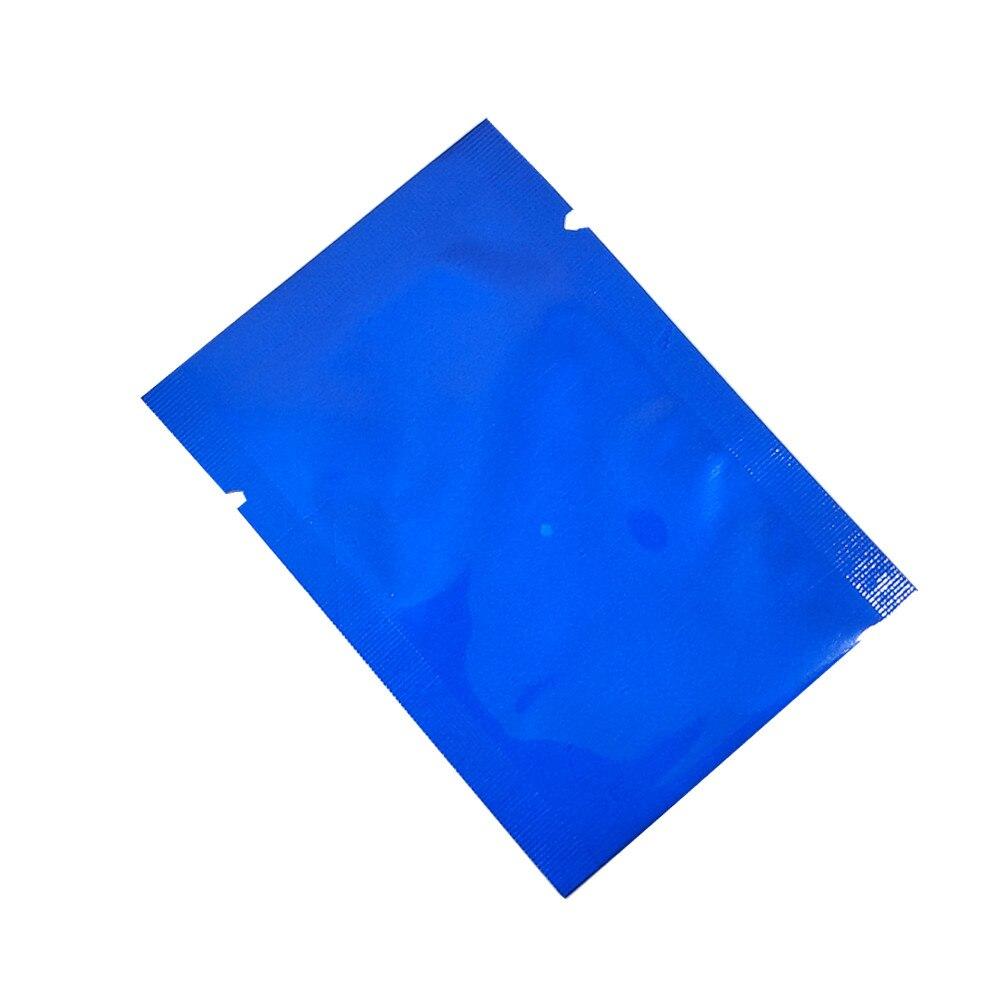 En gros haut ouvert thermoscellage sacs sous vide pur Mylar feuille emballage sacs alimentaire stockage poche faveur de mariage 2000 pièces 5x7cm 7 couleurs - 6