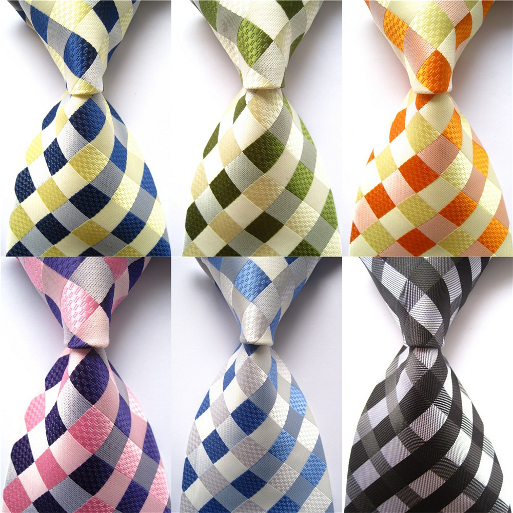 New Design Mens Tie Luxury Man Floral Paisley Stripe Plaid Silk Neckties Jacquard Woven Classic Business Wedding Party Ties