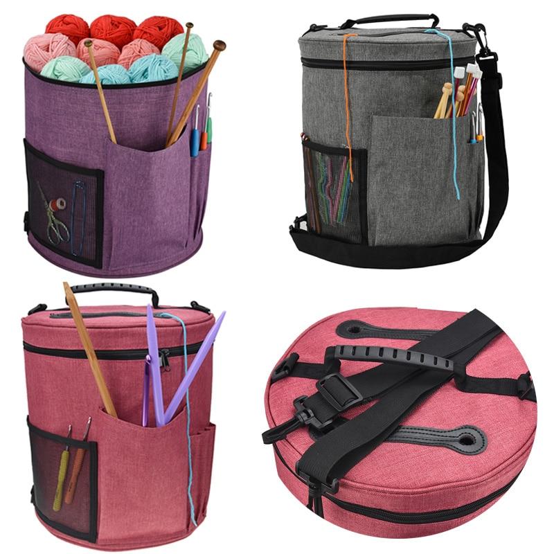 Knitting Needles Sewing Set Storage Bag Crochet Hooks Thread Yarn Organizer Storage Bag Wool Crochet Hooks Holder
