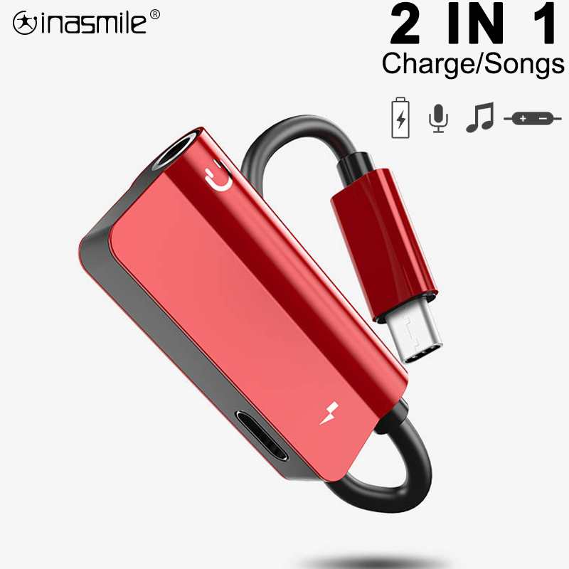2in1 USB Type C To 3.5mm Earphone Jack Adapter For Leeco Le Max 2/Pro 3 S3 Aux Audio Cable Headphone Charger Charging Converter
