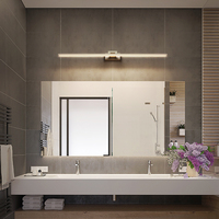 Brief Modern Brushed Aluminum LED Wall Lamp waterproof Bathroom Toilet Vanity Front Mirror Light Wall Mounted Dresser Lighting