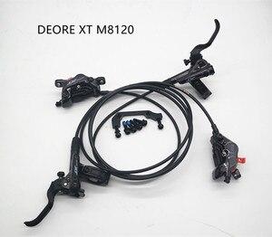 Image 1 - SHIMANO DEORE XT M8120 brake 4 hydraulic piston disc brake ICE TECH Resin  brake pads front rear 800/900MM / 1600/1500MM DH FR