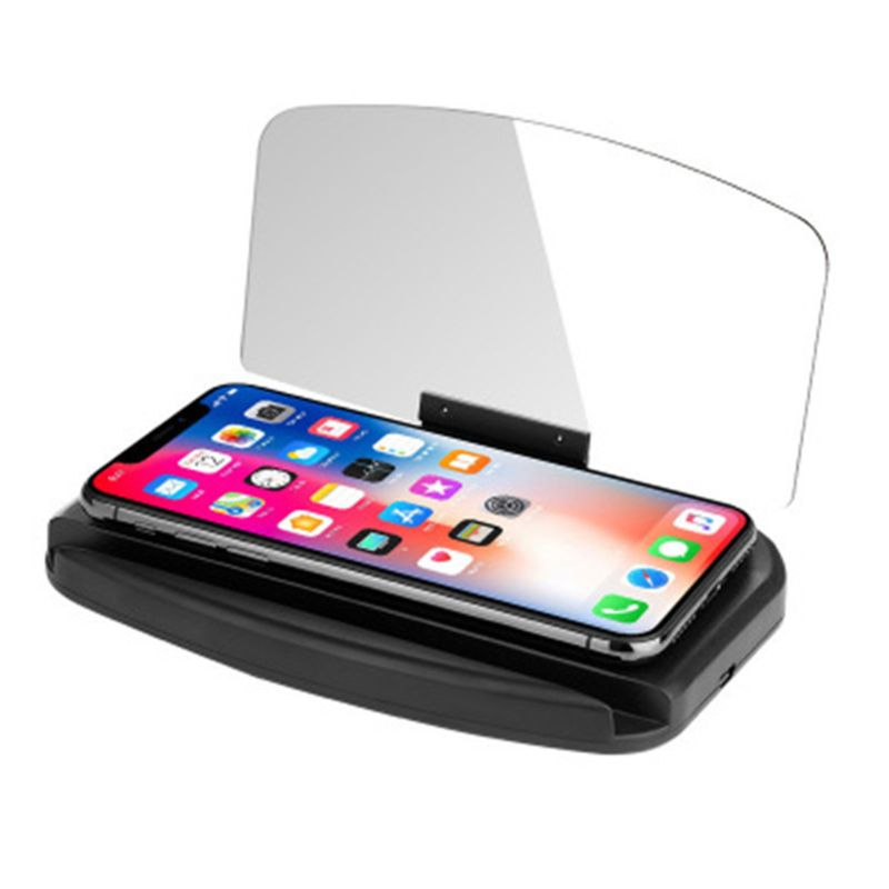 HUD Screen Support Wireless Charging GPS Navigation Phone Stand Head Up Display Projector